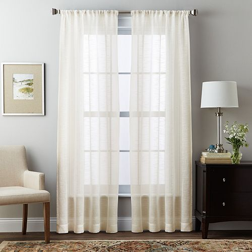 Window Curtainworks 1-Panel Brook Slubbed Sheer Window Curtain