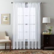 Window Curtainworks Brook Slubbed Sheer Window Curtain