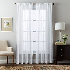Window Curtainworks 1-Panel Brook Slubbed Sheer Window Curtain
