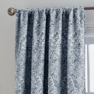 Damask 1-Panel Marlena Lined Window Curtain
