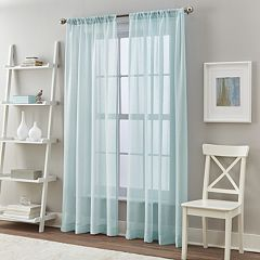 Curtainworks 2-pack Solid Cape Sheer Window Curtains
