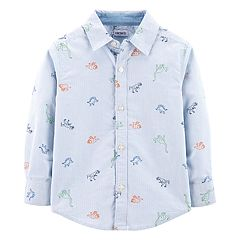 Baby Boy Carter's Dinosaur Oxford Button Down Shirt