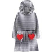 Toddler Girl Carter's Striped Hooded Dress