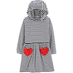 Toddler Girl Carter's Striped Hooded Dress