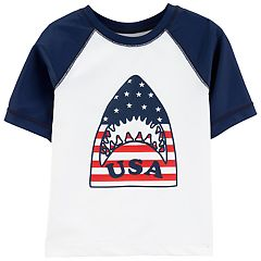 Toddler Boy OshKosh B'gosh® Shark USA Rash Guard Raglan Top
