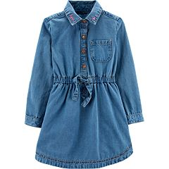 01b585dcf92 Toddler Girl Carter s Henley Denim Dress