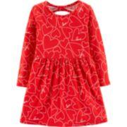 Toddler Girl Carter's Heart Cut-Out Back Dress