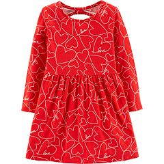 Toddler Girl Carters Heart Cut Out Back Dress