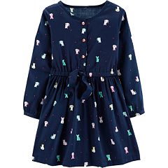 Toddler Girl Carter's Cat Henley Dress