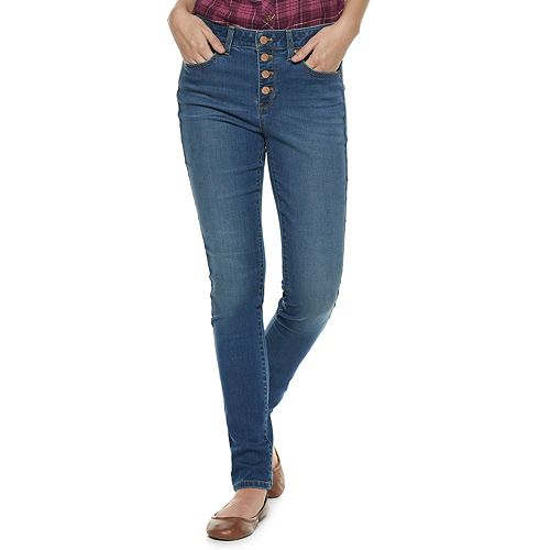 Women's SONOMA Goods for Life™ Button High Waist Skinny Jeans