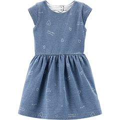 Toddler Girl Carter's 'Sparkle & Shine' French Terry Dress