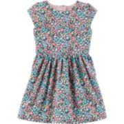 Toddler Girl Carter's  Floral Heart Cutout Dress