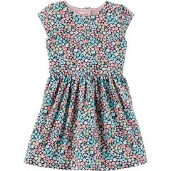 Toddler Girl Carter's  Floral Heart Cutout Dress