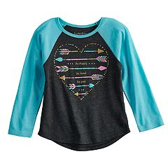 Toddler Girl Jumping Beans® Raglan Glittery Graphic Tee