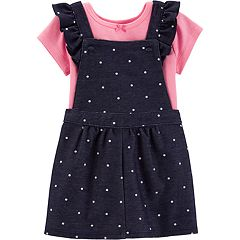 Baby Girl Carter's Bodysuit & Polka-Dot Denim Skirtall