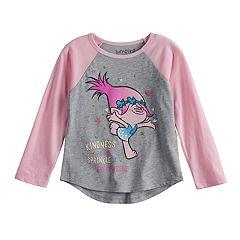 Toddler Girl Jumping Beans® Dreamworks Trolls Poppy Raglan Graphic Tee