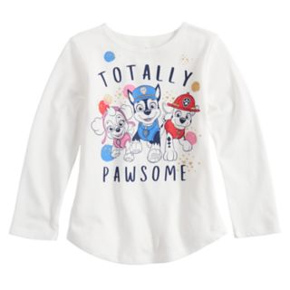 """Toddler Girl Jumping Beans® Paw Patrol """"Totally Pawsome"""" Long Sleeve Graphic Tee"""