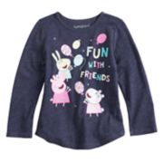 "Toddler Girl Jumping Beans® Peppa Pig ""Fun With Friends"" Long Sleeve Graphic Tee"