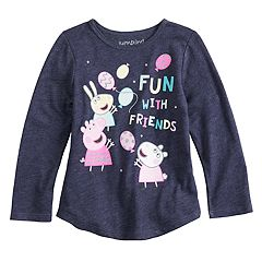 Toddler Girl Jumping Beans® Peppa Pig 'Fun With Friends' Long Sleeve Graphic Tee