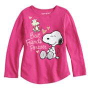 "Toddler Girl Jumping Beans® Peanuts Snoopy & Woodstock ""Best Friends Forever"" Long Sleeve Tee"
