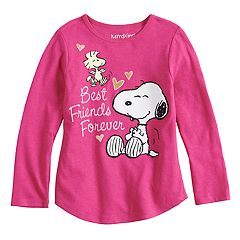 Toddler Girl Jumping Beans® Peanuts Snoopy & Woodstock 'Best Friends Forever' Long Sleeve Tee