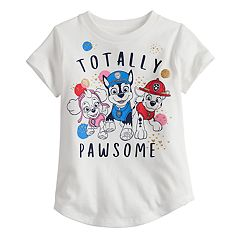 Toddler Girl Jumping Beans® Paw Patrol Chase, Marshall & Skye 'Totally Pawsome' Glitter Graphic Tee