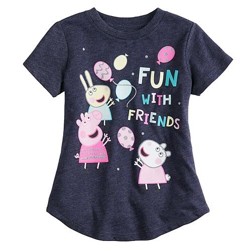 "Toddler Girl Jumping Beans® Peppa Pig ""Fun With Friends"" Short Sleeve Graphic Tee"