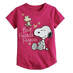 Toddler Girl Jumping Beans® Peanuts Snoopy & Woodstock 'Best Friends Forever' Glitter Graphic Tee