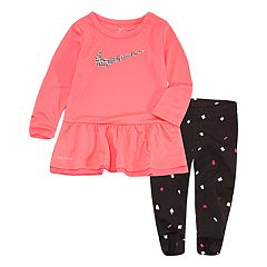 Baby Girl Nike Peplum-Hem Tunic & Confetti Leggings Set
