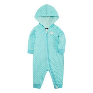 Baby Girl Nike Polka-Dot Coverall