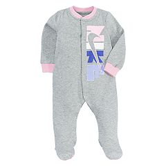 Baby Girl Nike Logo Graphic Footed Coverall