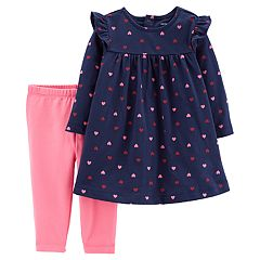 Baby Girl Carter's Heart Dress & Leggings Set