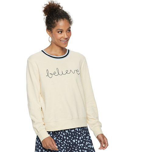 "Women's POPSUGAR ""believe"" Athletic Sweatshirt"