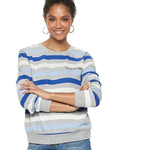 "Women's POPSUGAR ""Love Ya Self"" Striped Sweater"