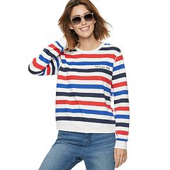 Women's POPSUGAR 'Love Ya Self' Striped Sweater