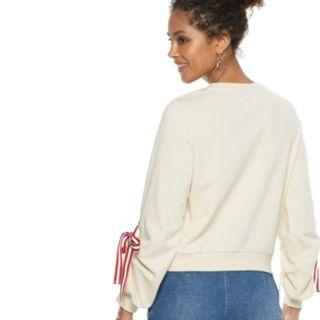 Women's POPSUGAR Tie-Sleeve Sweatshirt