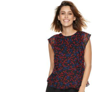 Women's POPSUGAR Print Ruffle Flounce Top