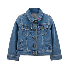 Baby Girl Carter's Embroidered Heart Denim Jacket