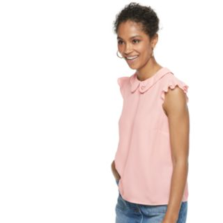 Women's POPSUGAR Heart Ruffle-Sleeve Top