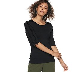 Women's POPSUGAR Ruffle Sleeve Sweater