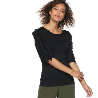 Women's POPSUGAR Ruffle Sleeve Sweater