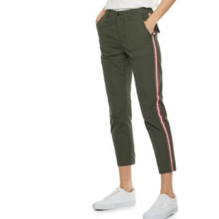 Women's POPSUGAR Constrast-Stripe Ankle Pants