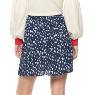 Women's POPSUGAR Heart Pleated Swing Skirt