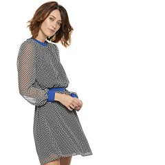 Women's POPSUGAR Constrast-Trim Dot Mini Dress