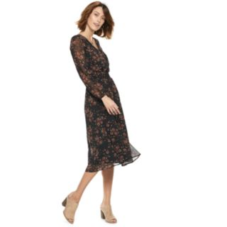 Women's POPSUGAR Print Smocked Midi Dress