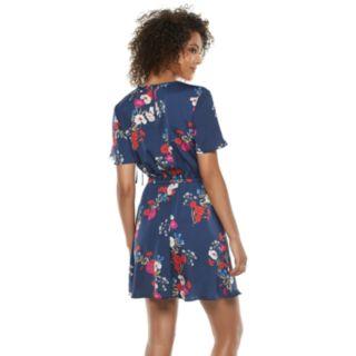 Women's POPSUGAR Floral Ruched-Detail Dress