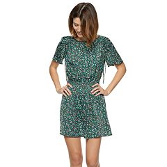 Women's POPSUGAR Floral Ruched-Detail Dress