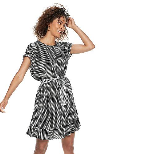 Women's POPSUGAR Print Tie-Waist Dress