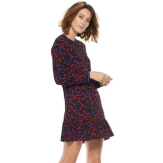 Women's POPSUGAR Flounce-Hem Mini Dress