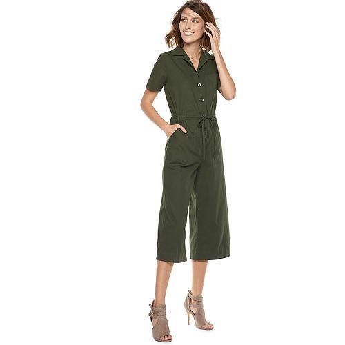 Women's POPSUGAR Cropped Wide-Leg Jumpsuit